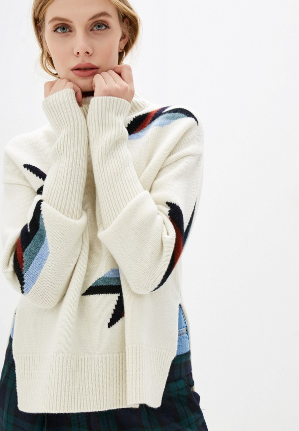 женский свитер markus lupfer, белый