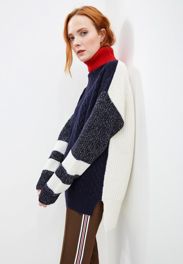 женский свитер markus lupfer, синий
