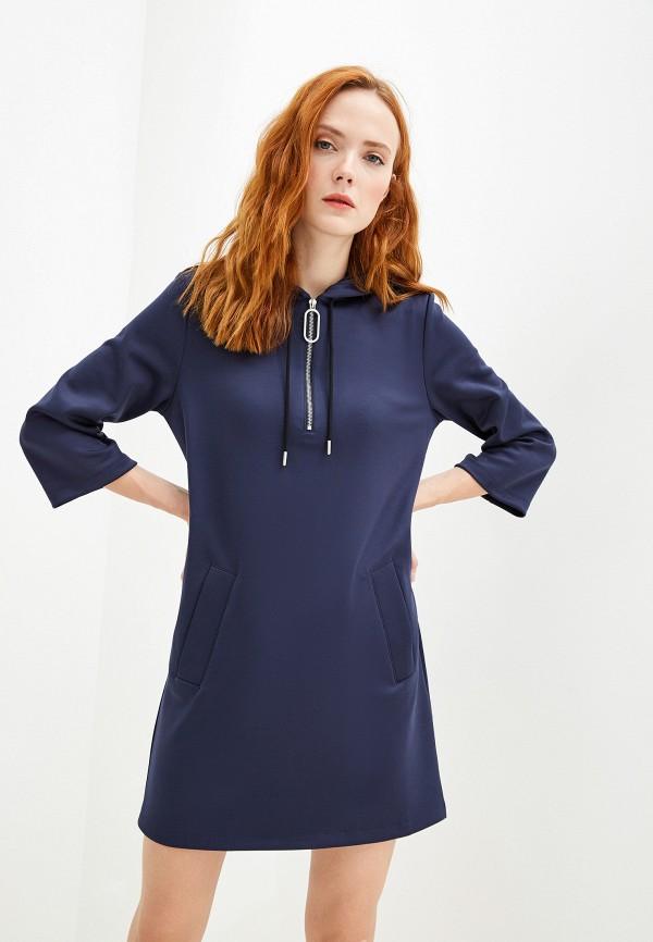 женское платье markus lupfer, синее