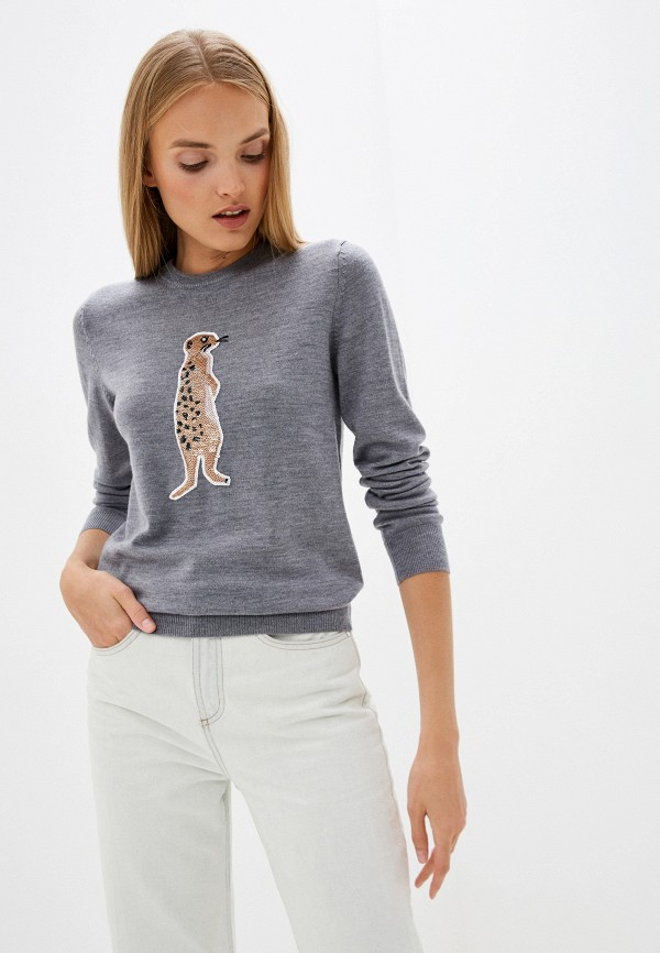 женский джемпер markus lupfer, серый