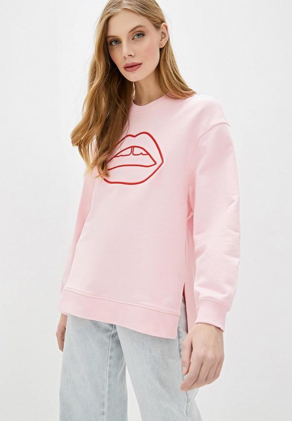 женский свитшот markus lupfer, розовый