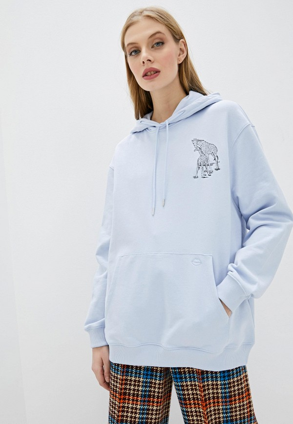 женские худи markus lupfer, голубые