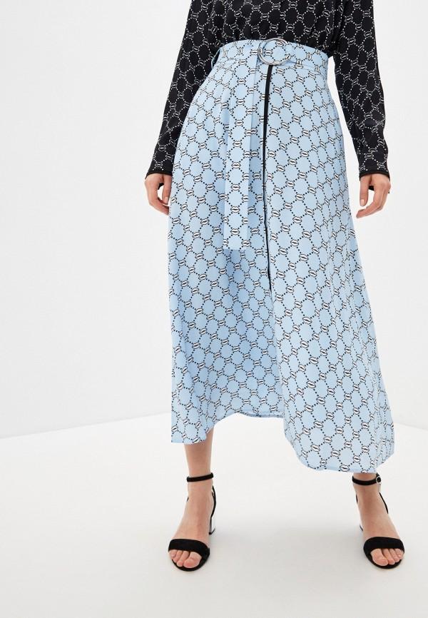 женская юбка markus lupfer, голубая