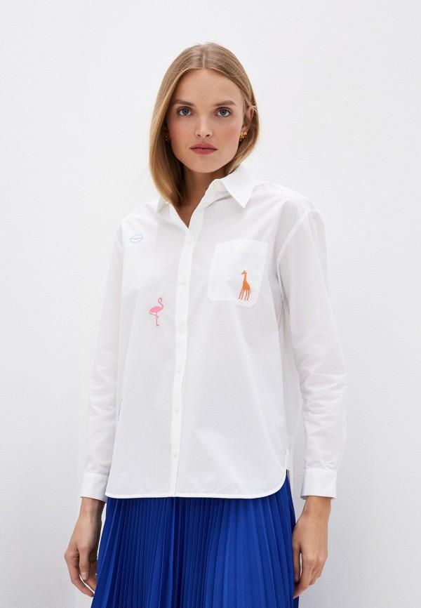 женская рубашка с длинным рукавом markus lupfer, белая