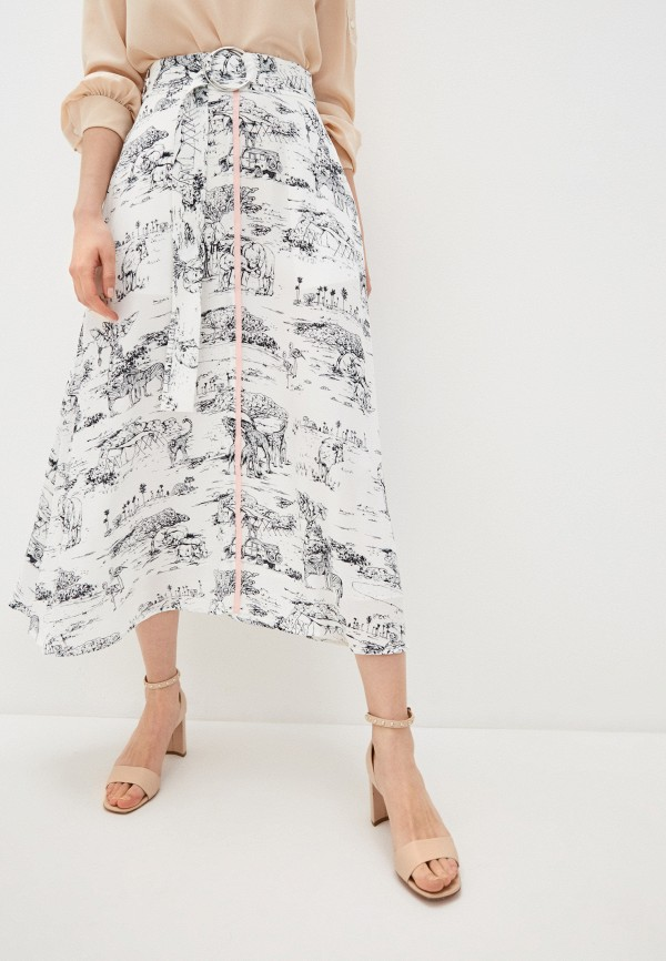 женская юбка markus lupfer, белая