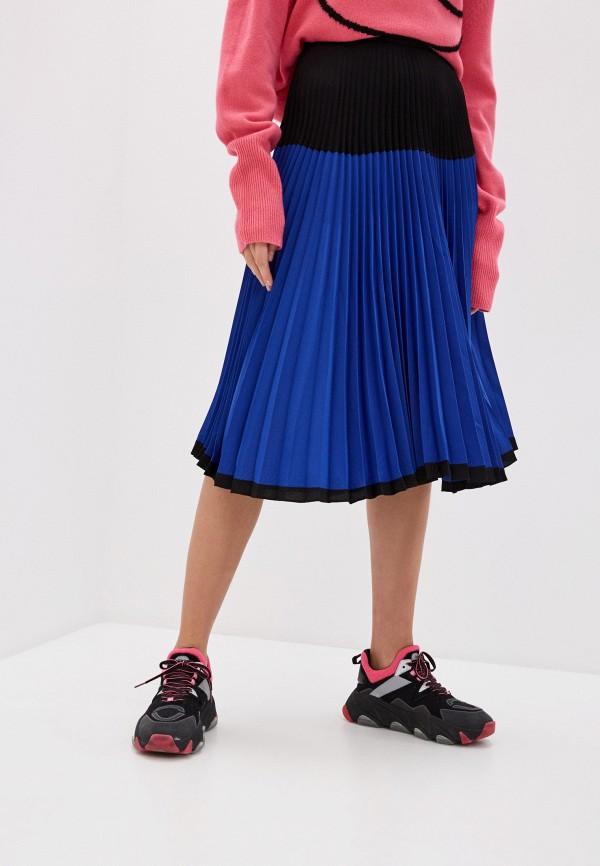 женская юбка markus lupfer, синяя