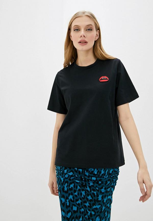 женская футболка markus lupfer, черная