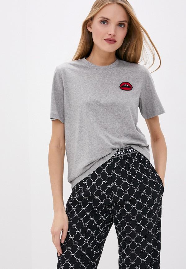 женская футболка markus lupfer, серая