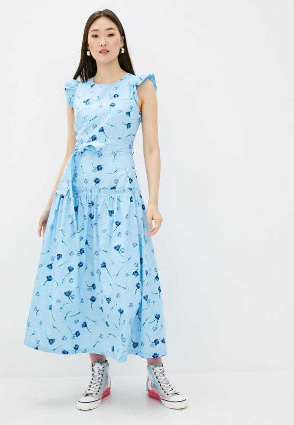 женское повседневные платье markus lupfer, голубое
