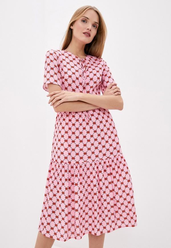 женское повседневные платье markus lupfer, розовое