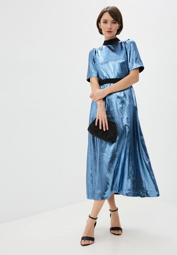 женское повседневные платье markus lupfer, синее