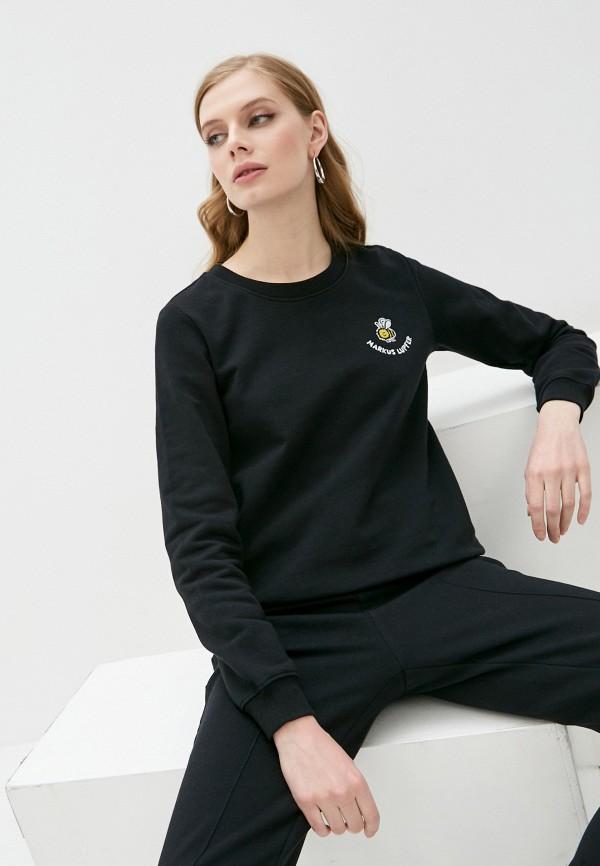 женский свитшот markus lupfer, черный