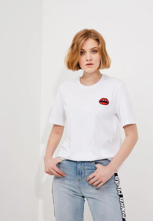 женская футболка с коротким рукавом markus lupfer, белая
