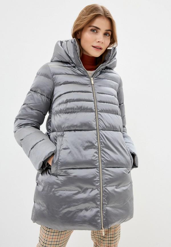 женская куртка madzerini, серебряная