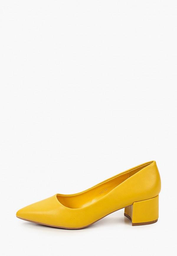 женские туфли с закрытым носом marquiiz, желтые