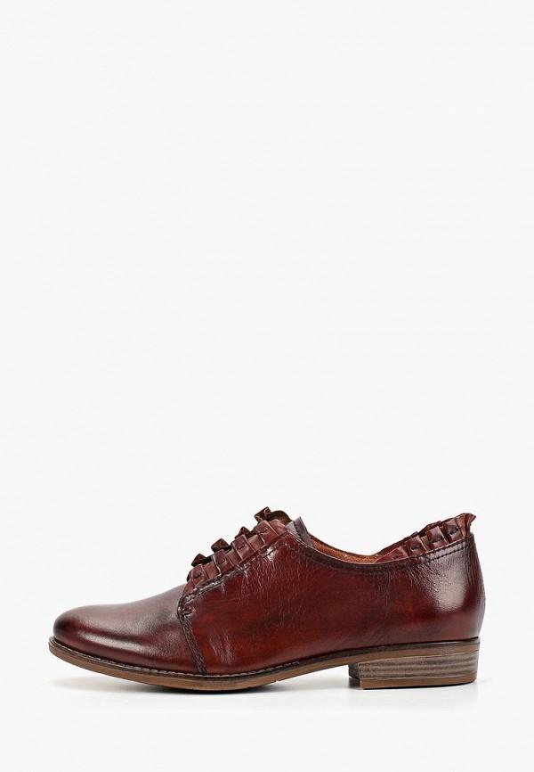 женские ботинки marcel ostertag by tamaris, коричневые