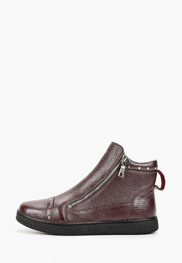 женские ботинки mastille, бордовые