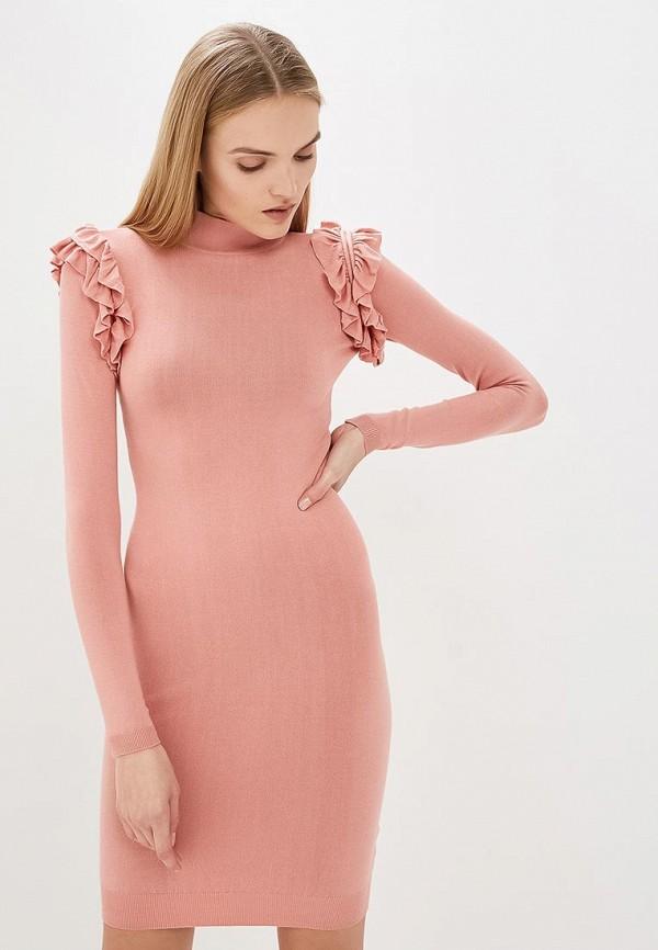 женское платье guess by marciano, розовое