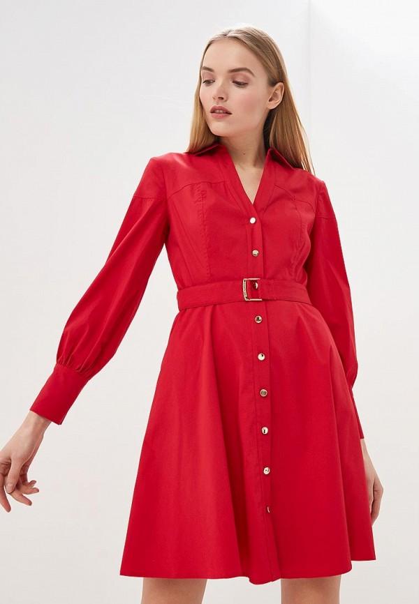 женское повседневные платье guess by marciano, красное