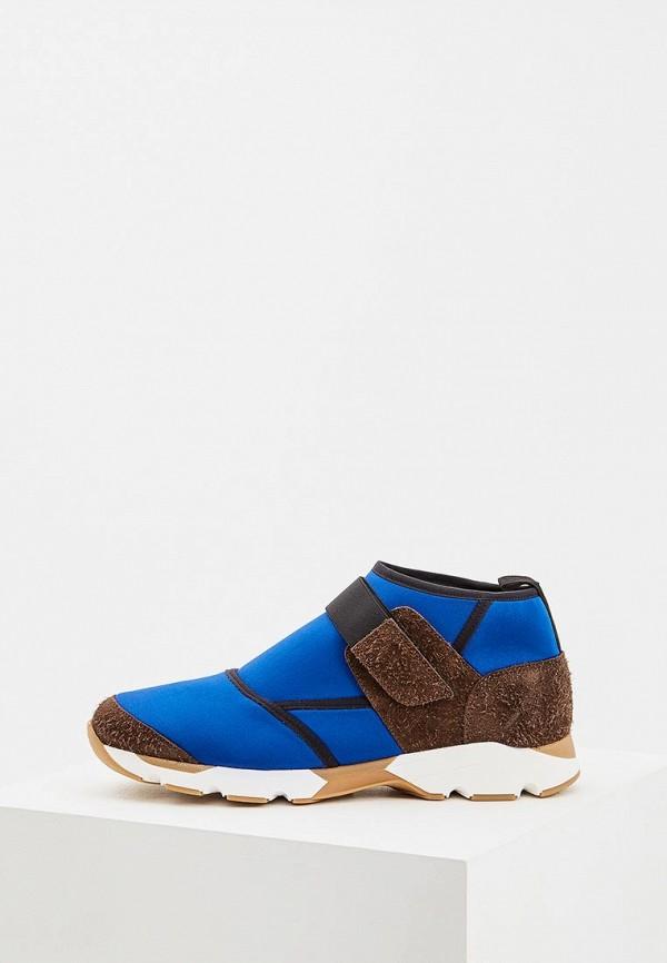 мужские кроссовки marni, синие
