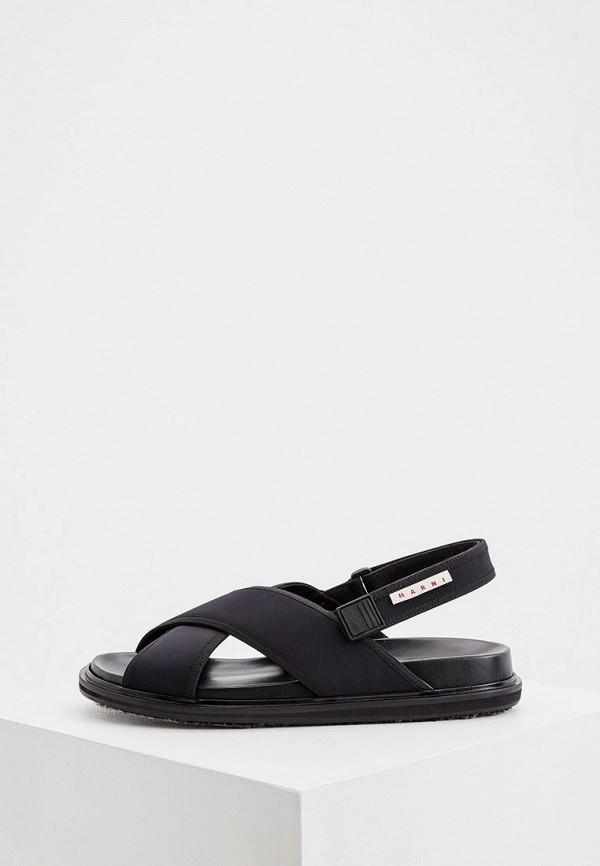 мужские сандалии marni, черные