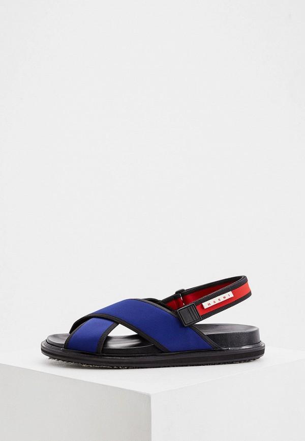 мужские сандалии marni, синие