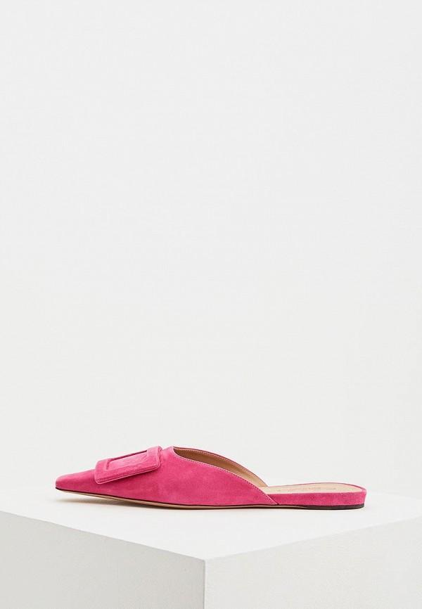 женское сабо marni, розовое