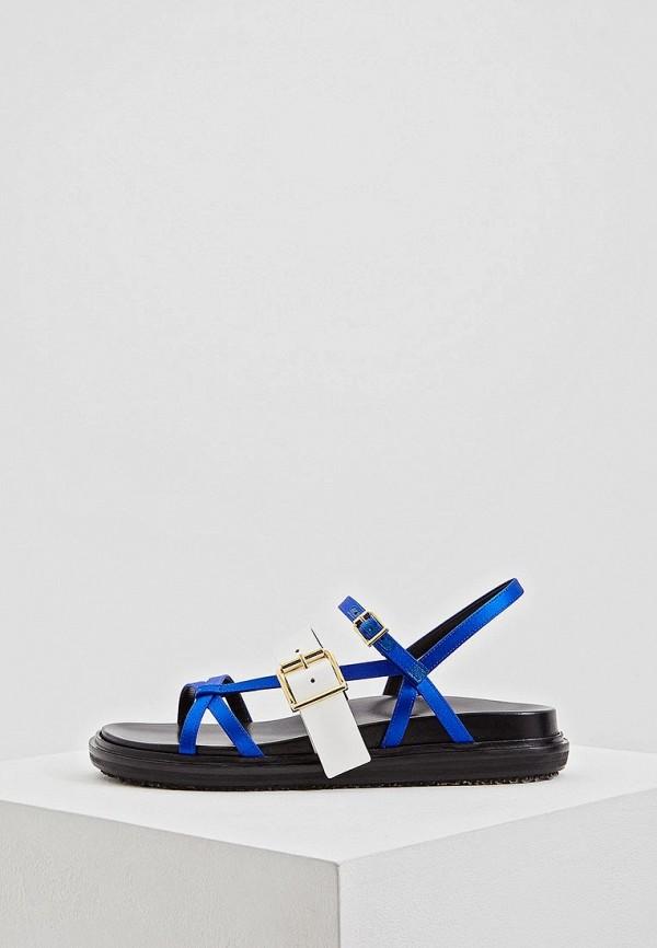 женские сандалии marni, синие