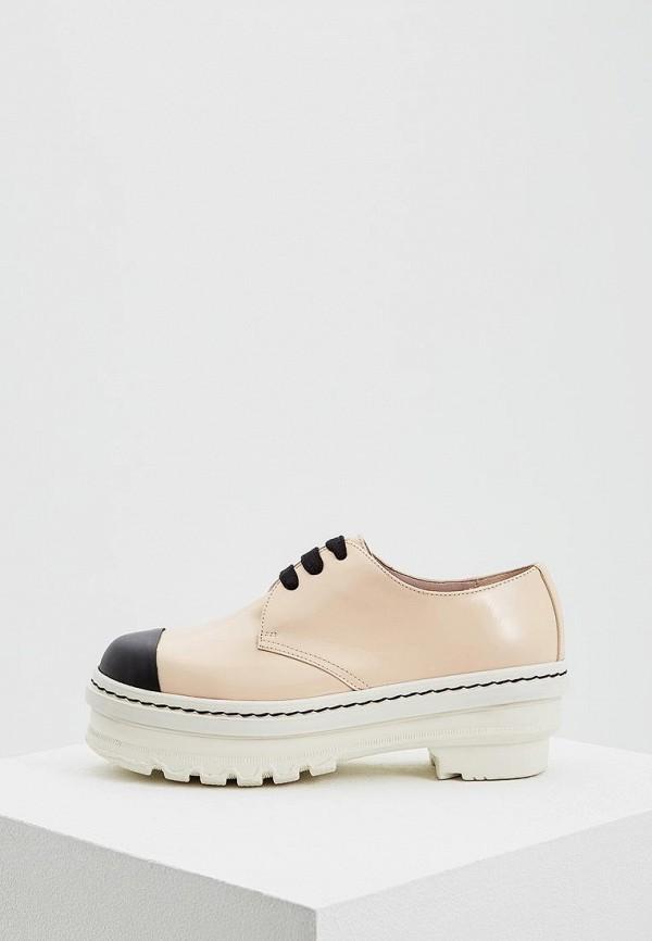 женские ботинки marni, бежевые