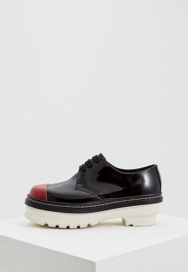 женские ботинки marni, черные