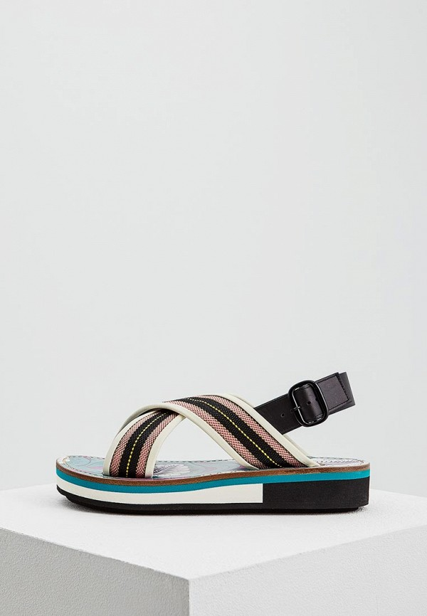 женские сандалии marni, разноцветные