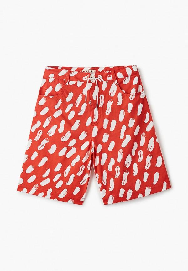 шорты marni для девочки, красные