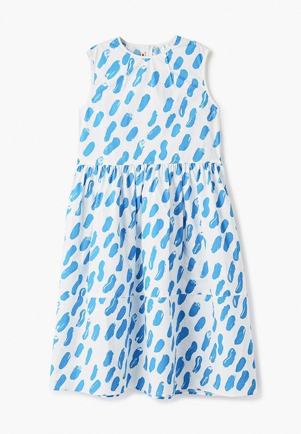 повседневные платье marni для девочки, белое