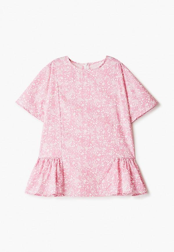 блузка marni для девочки, розовая