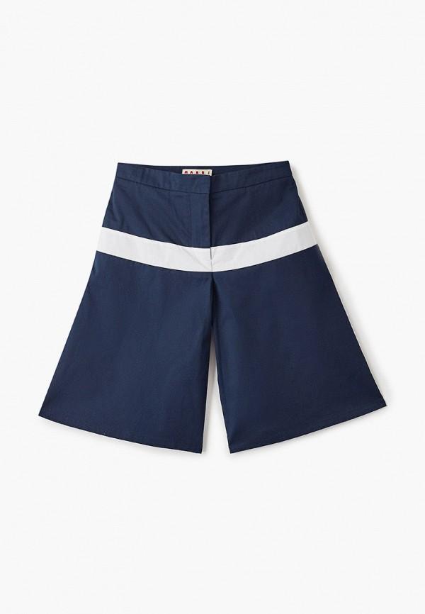 шорты marni для девочки, синие