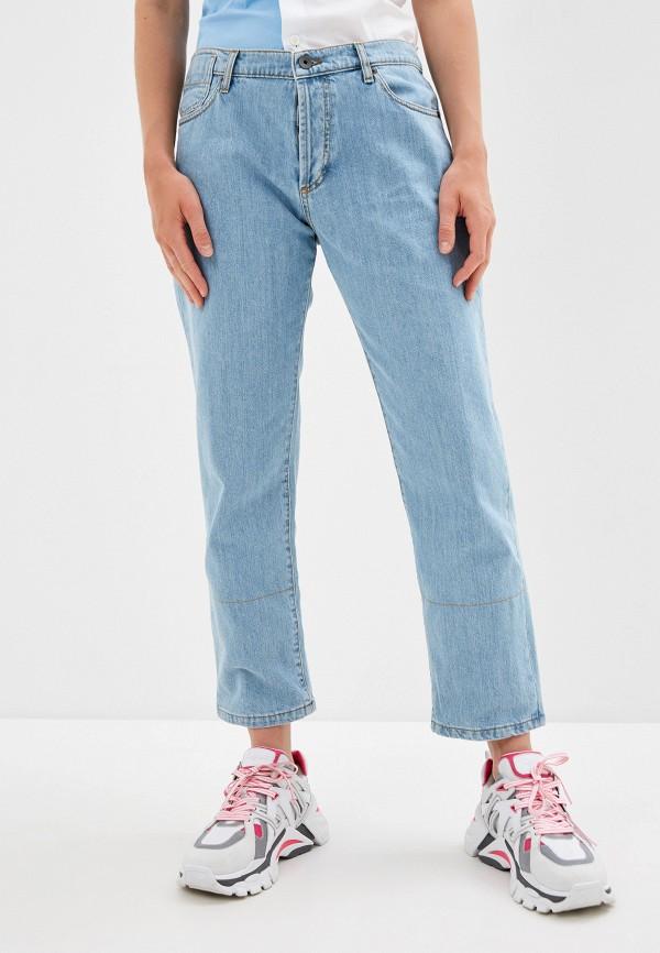 женские прямые джинсы marni, голубые