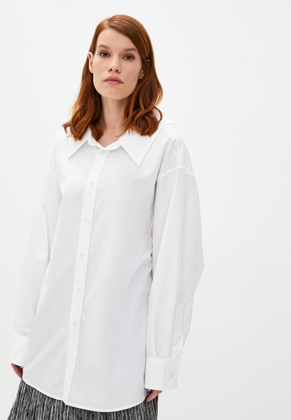 женская рубашка с длинным рукавом marni, белая
