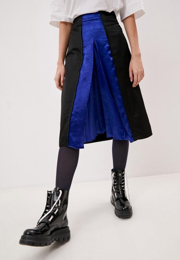 женская юбка-трапеции marni, желтая
