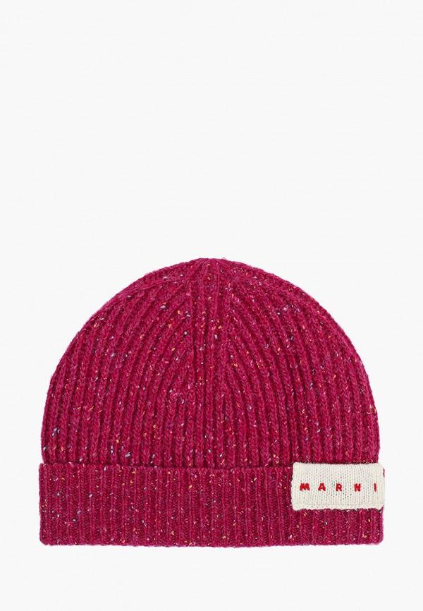 шапка marni для девочки, розовая