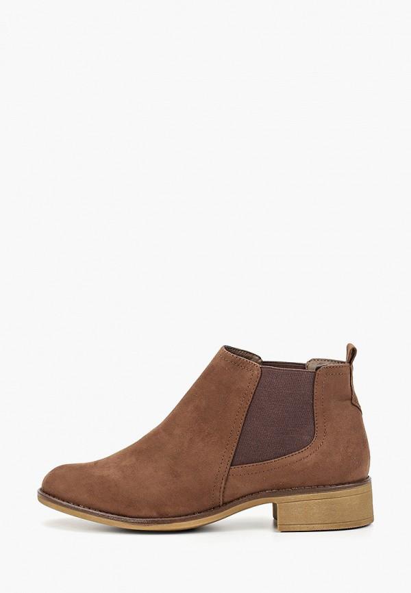 женские ботинки marks & spencer, коричневые