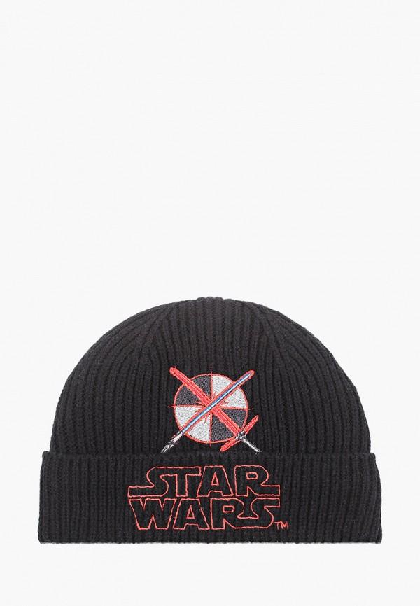 шапка marks & spencer для мальчика, черная