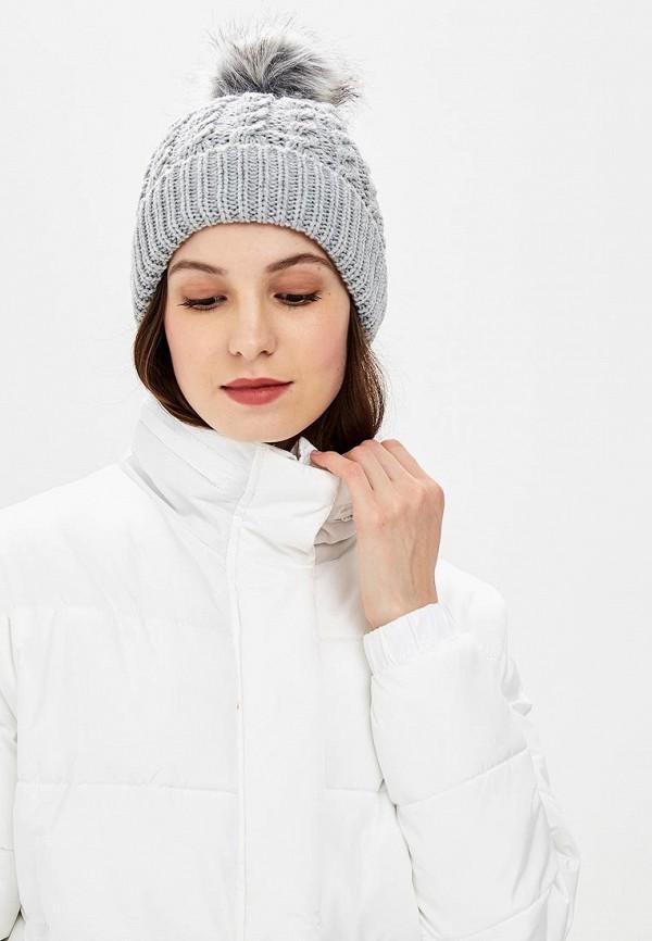Фото 5 - Шапку Marks & Spencer серого цвета