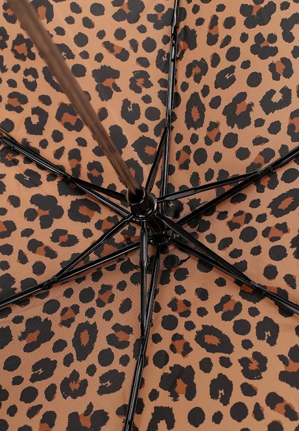 Фото 4 - Зонт складной Marks & Spencer коричневого цвета
