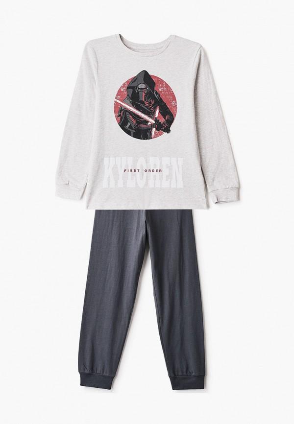 пижама marks & spencer для мальчика, серая