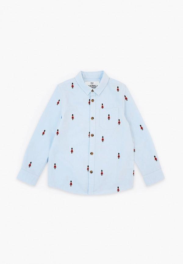 рубашка marks & spencer для мальчика, голубая