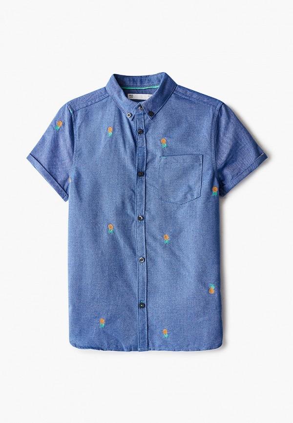 рубашка marks & spencer для мальчика, синяя