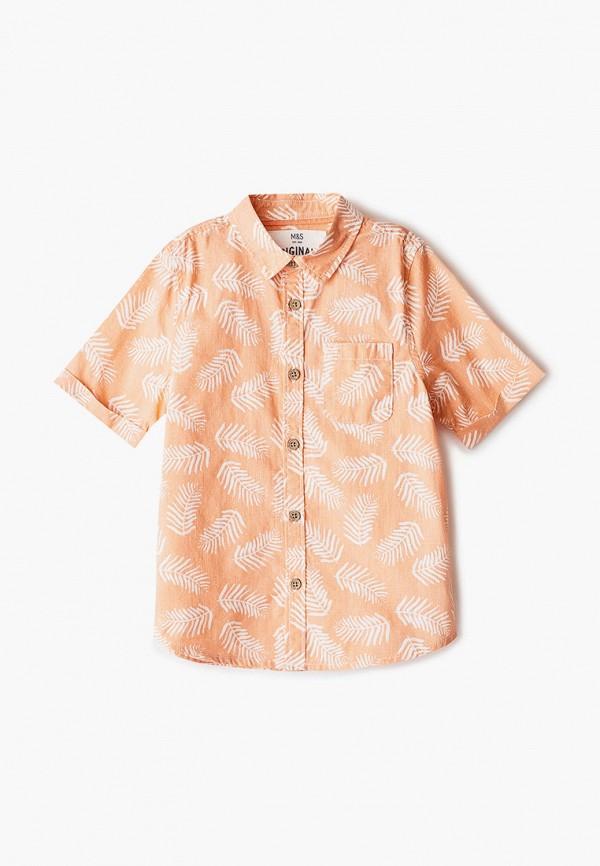 рубашка marks & spencer для мальчика, оранжевая