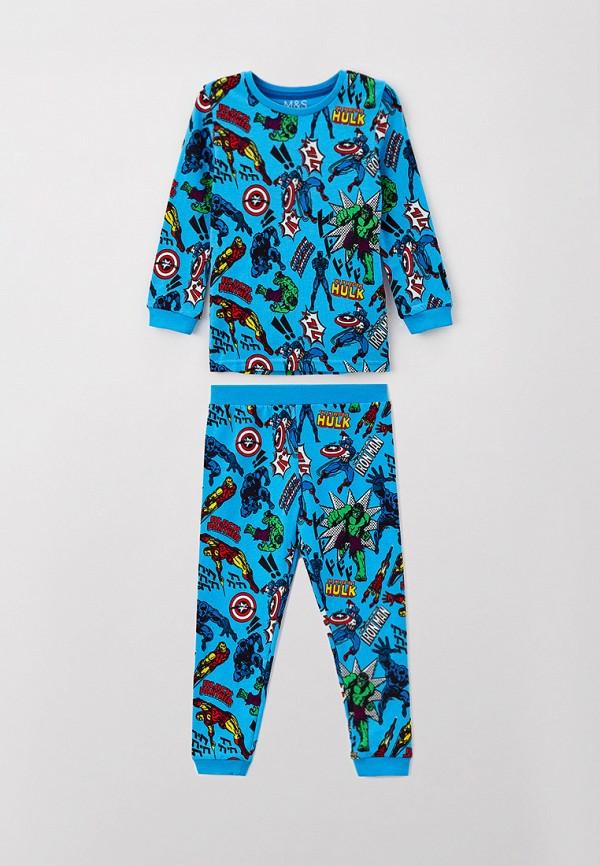 пижама marks & spencer для мальчика, голубая