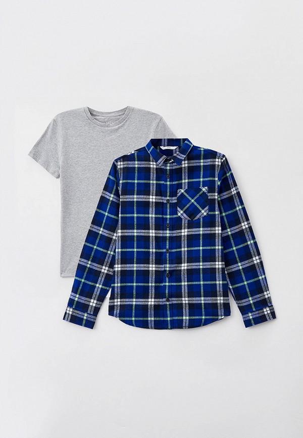 футболка marks & spencer для мальчика, разноцветная
