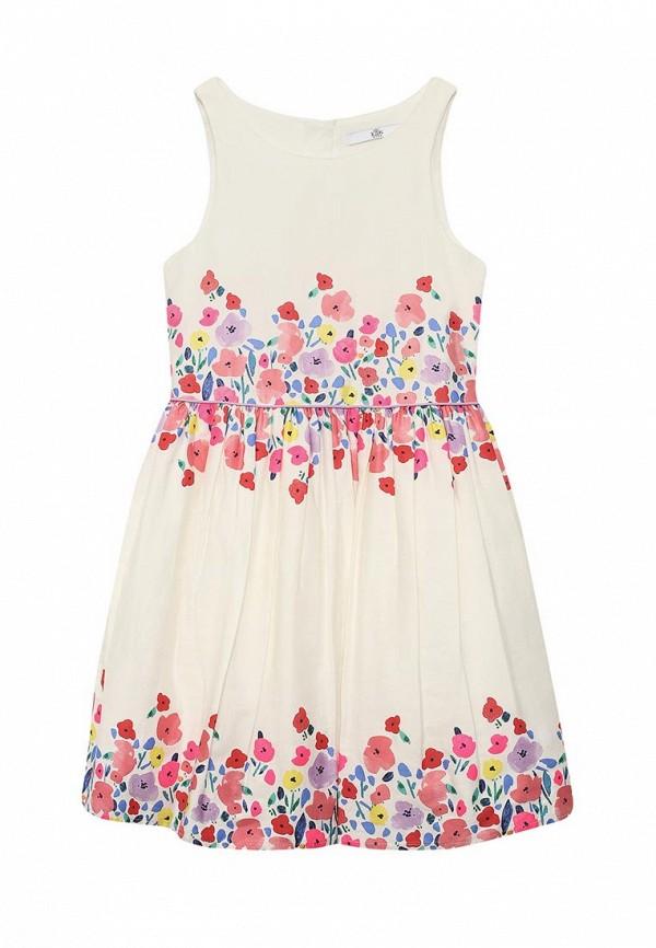 повседневные платье marks & spencer для девочки, белое